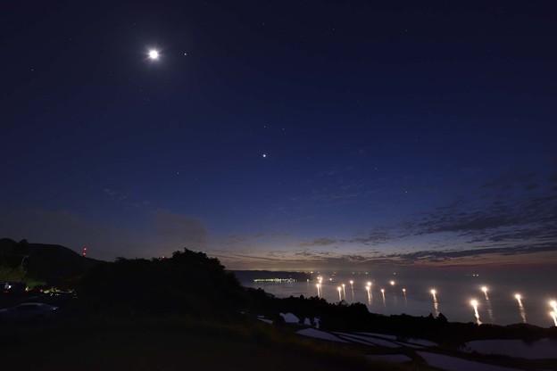 月夜の油谷湾
