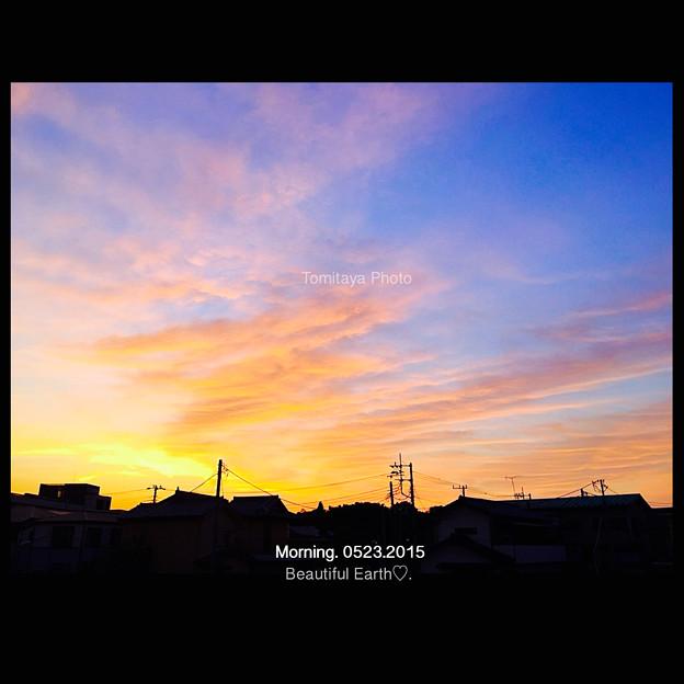 いろどりの朝の空
