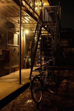 アパートの自転車