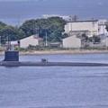 浦賀水路へ向かう米海軍 原潜ハワイ・・20140824