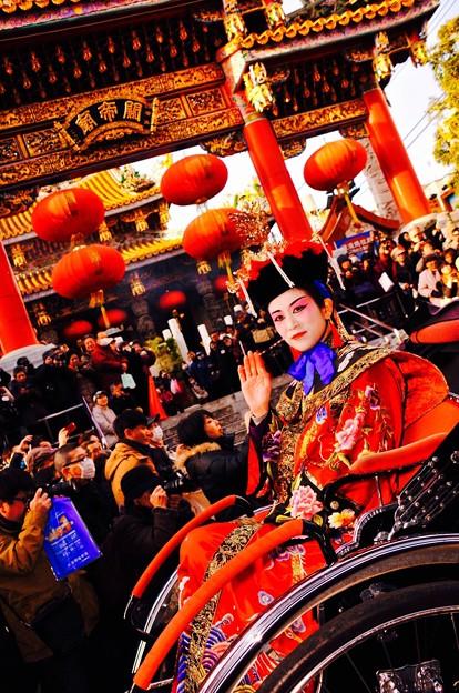 中華の王妃。。横浜中華街祝賀パレード 2月28日