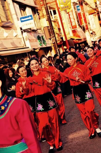 横浜中華街祝賀パレード。。祝舞遊行 舞踊。。2月28日