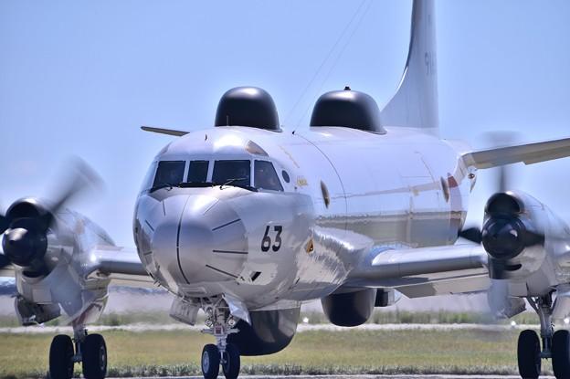 デモ飛行から帰還するUP-3D・・