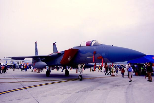 岩国基地日米親善フレンドシップデー2015・・嘉手納からの参加 米空軍ZZ F-15Cイーグル・・5月3日