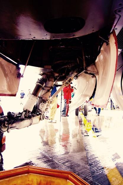 岩国基地日米親善フレンドシップデー2015・・F/A-18Cホーネットのギア・・5月3日