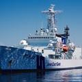 写真: 静かに停泊している海上保安庁あきつしま。。5月30日