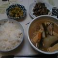 Photos: 夕食 ひじき煮に煮付け&高菜他でした