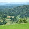 Photos: 棚田から見る越後の山並み