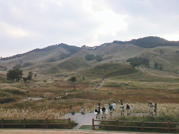 砥峰高原(とのみね自然交流館からの眺め)