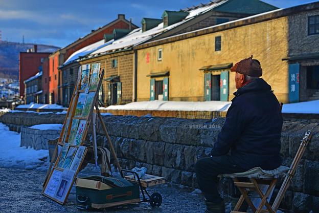 絵になる運河の画家