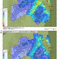 写真: 福島モニタリング・メッシュ調査1&2回 空間線量率マップ