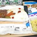 写真: 帰りの機内食