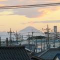 歩道橋から見た富士山!