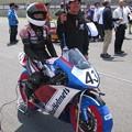 2014 #43 足立眞衣 NSF250R Hondaブルーヘルメット 全日本ロードレース J-GP3 jrr 95